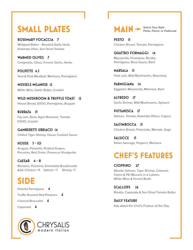 menu text image