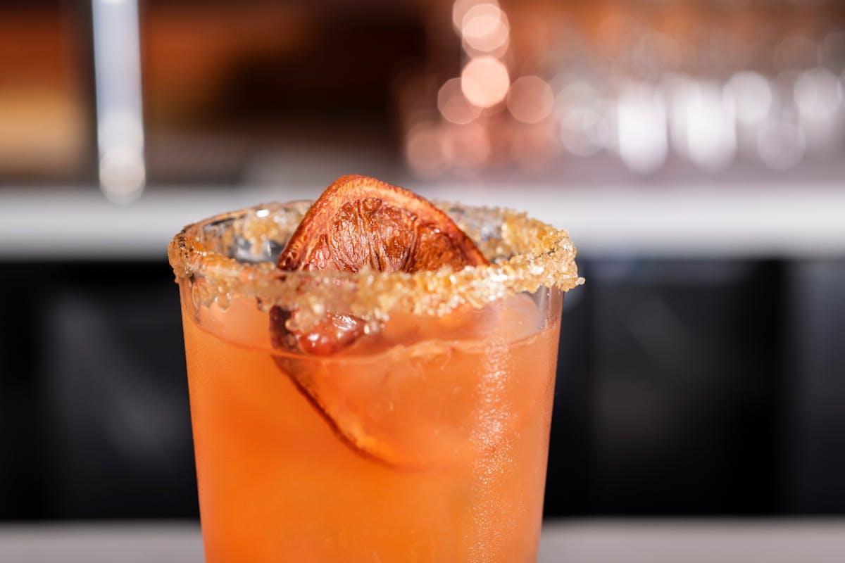 an orange cocktail