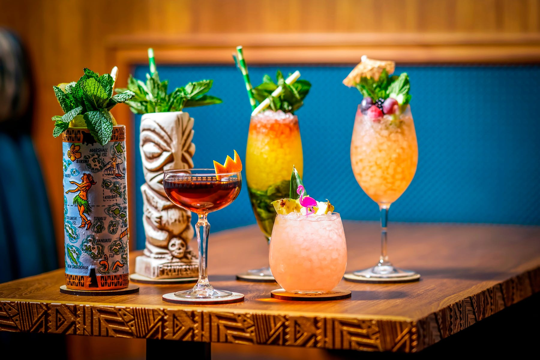 The Polynesian Assortment of Cocktails