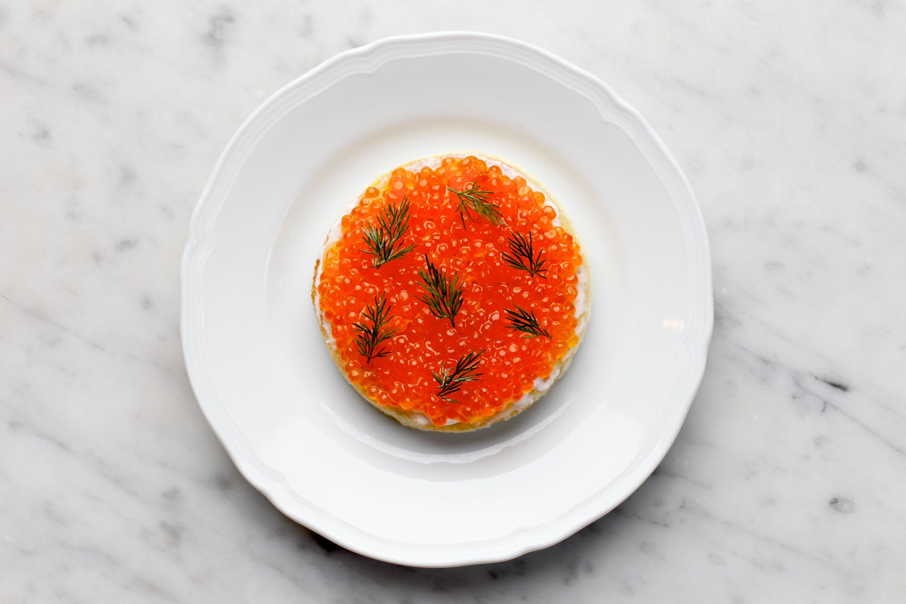 ZZ's Clam Bar Trout Roe Toast