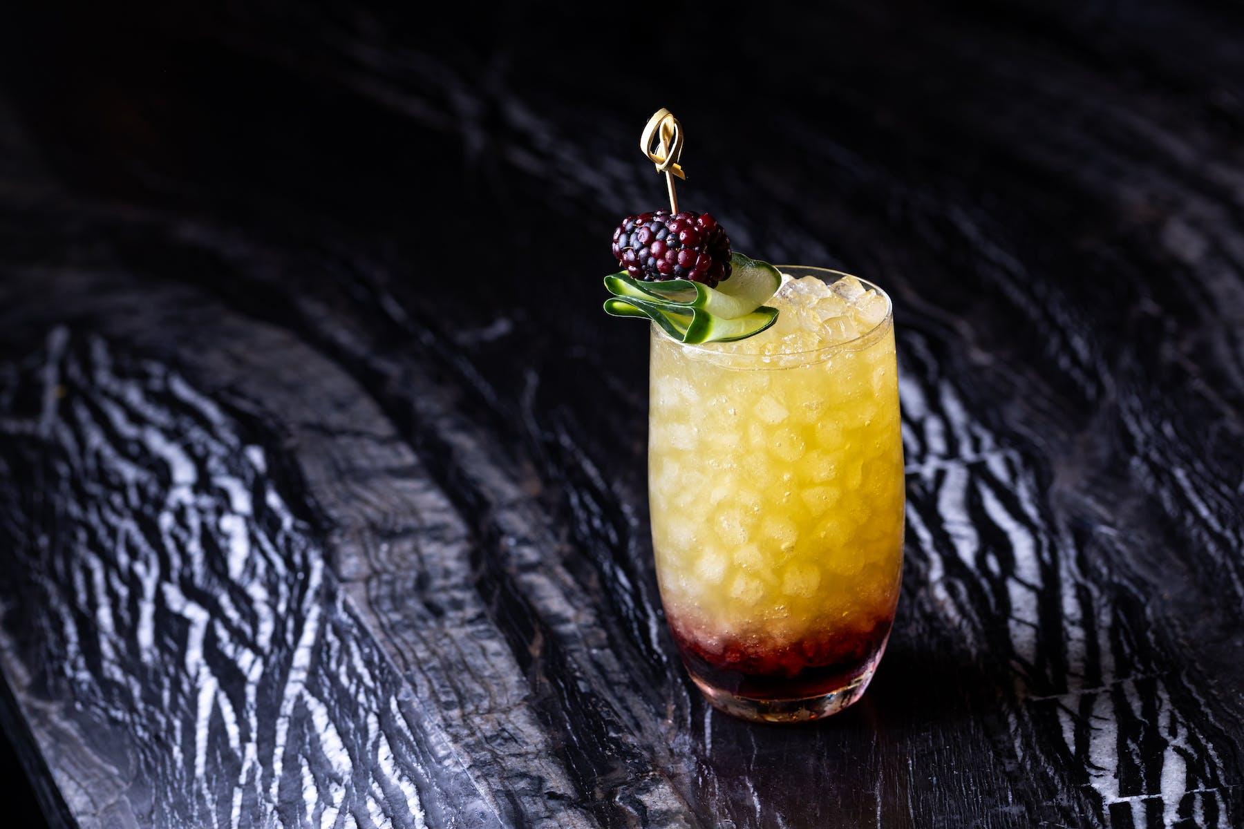 a cocktail on Italian marble
