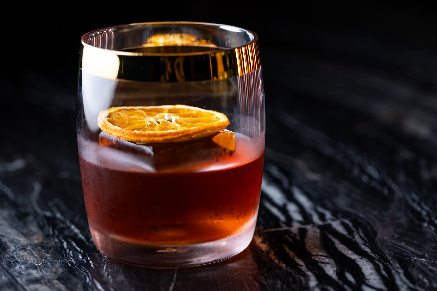 close up of a cocktail