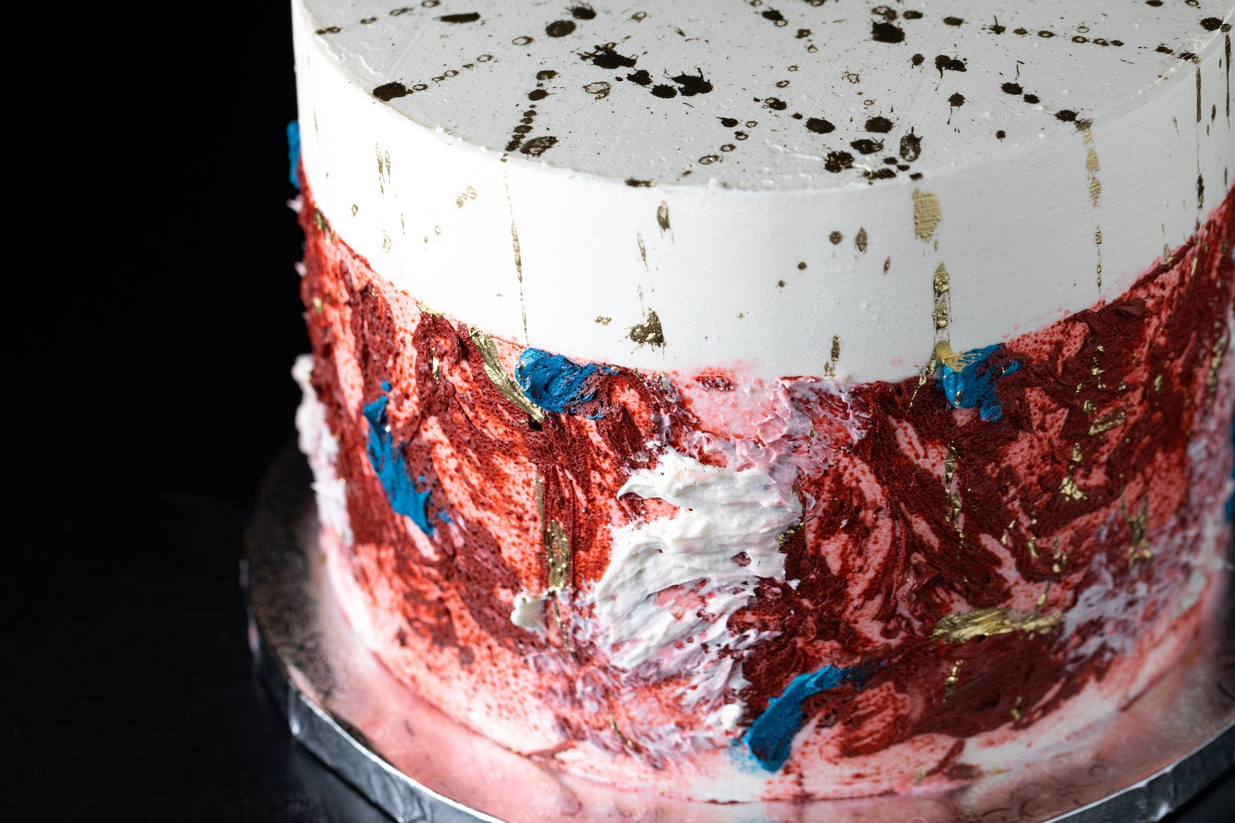 close up of a cake