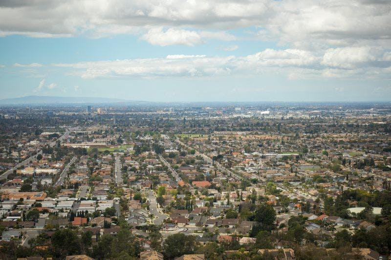 a view of a large city landscape