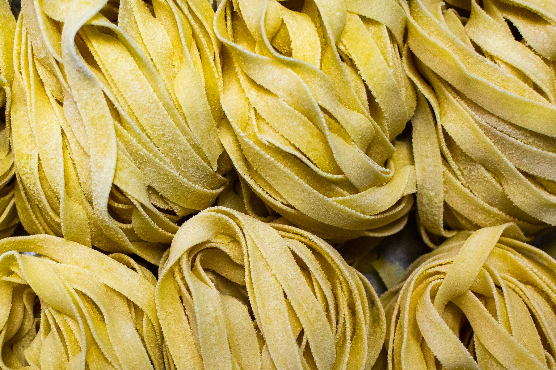 a pile of fresh pasta