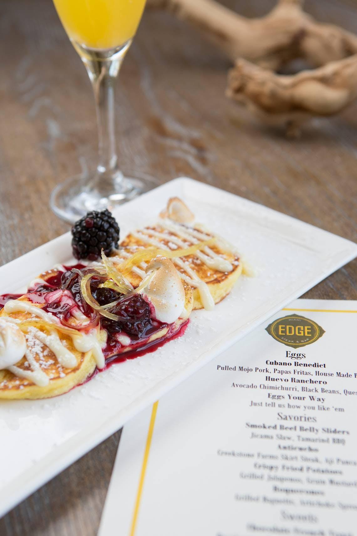 lemon ricotta pancakes on a table