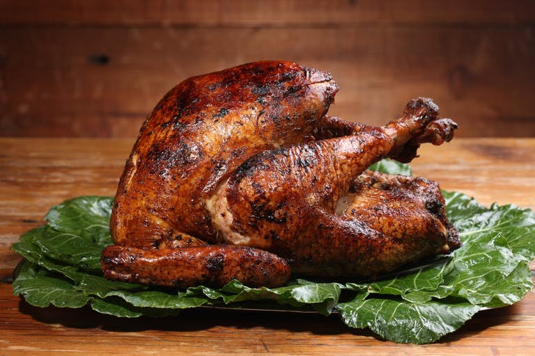 a roasted turkey