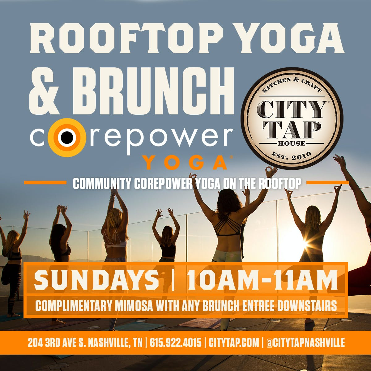 CorePower Yoga at the Rooftop at City Tap Nashville | City