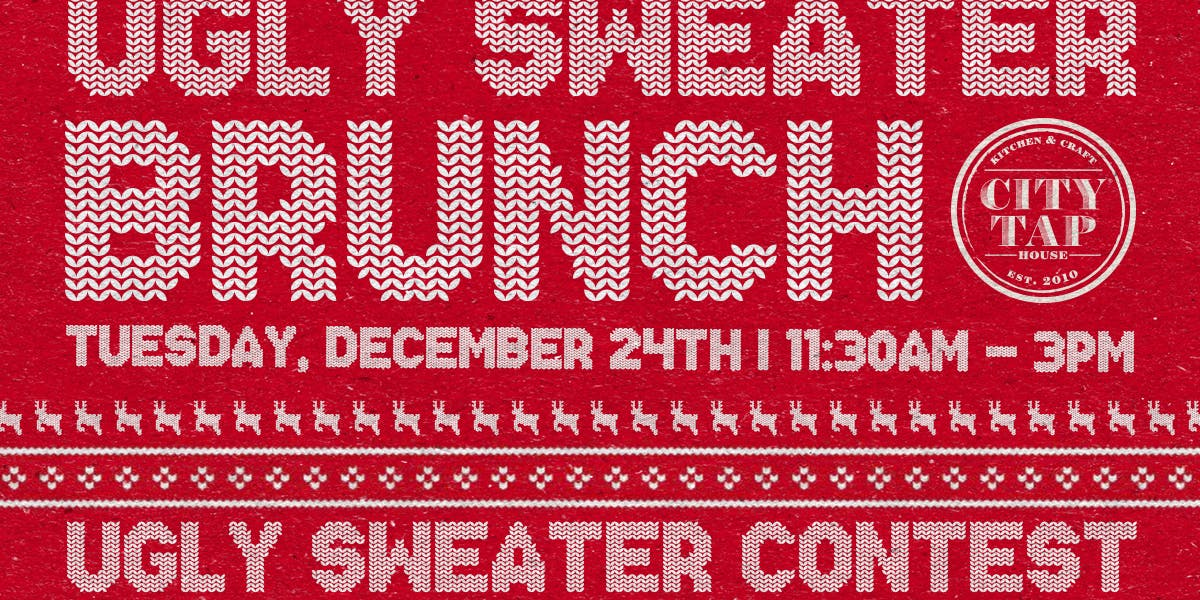 Ugly Sweater Brunch In Penn Quarter City Tap House