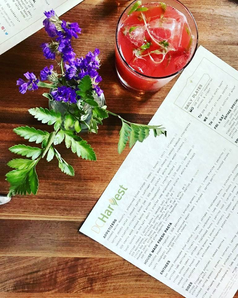 dc harvest menu