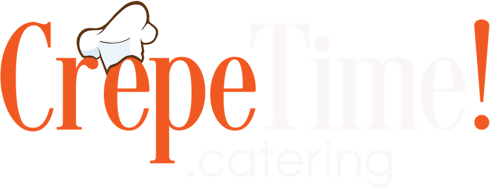 a close up of a the crepetime logo