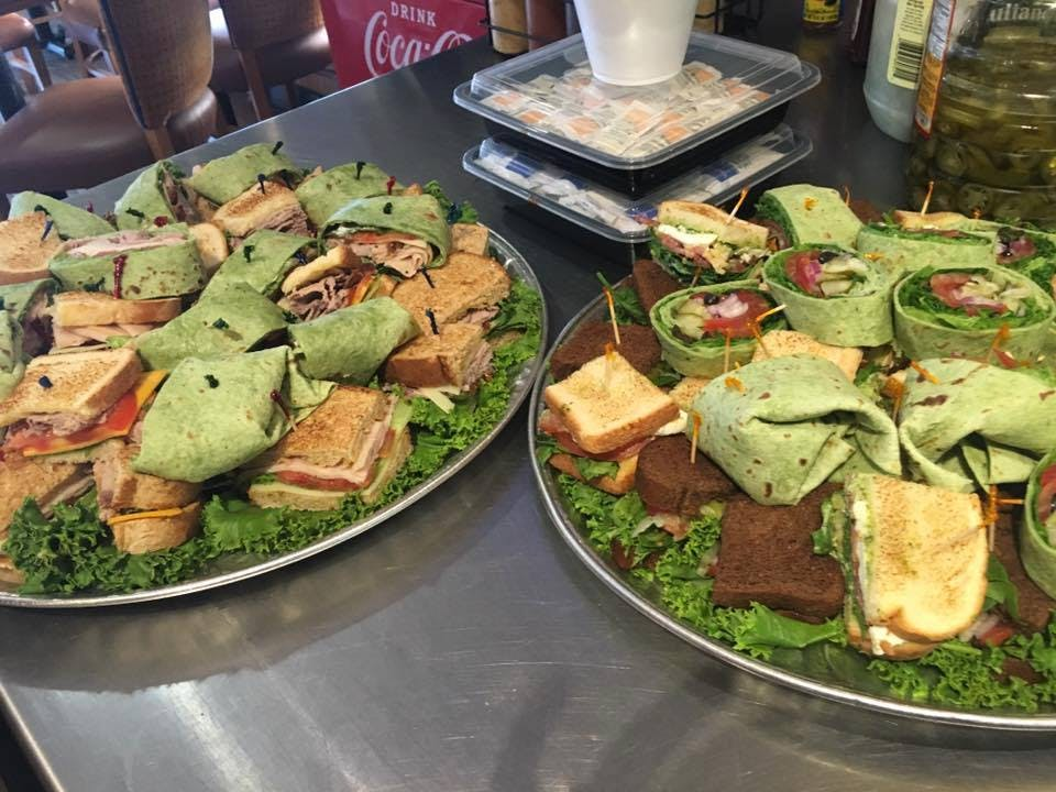 club sandwiches and wrap sampler