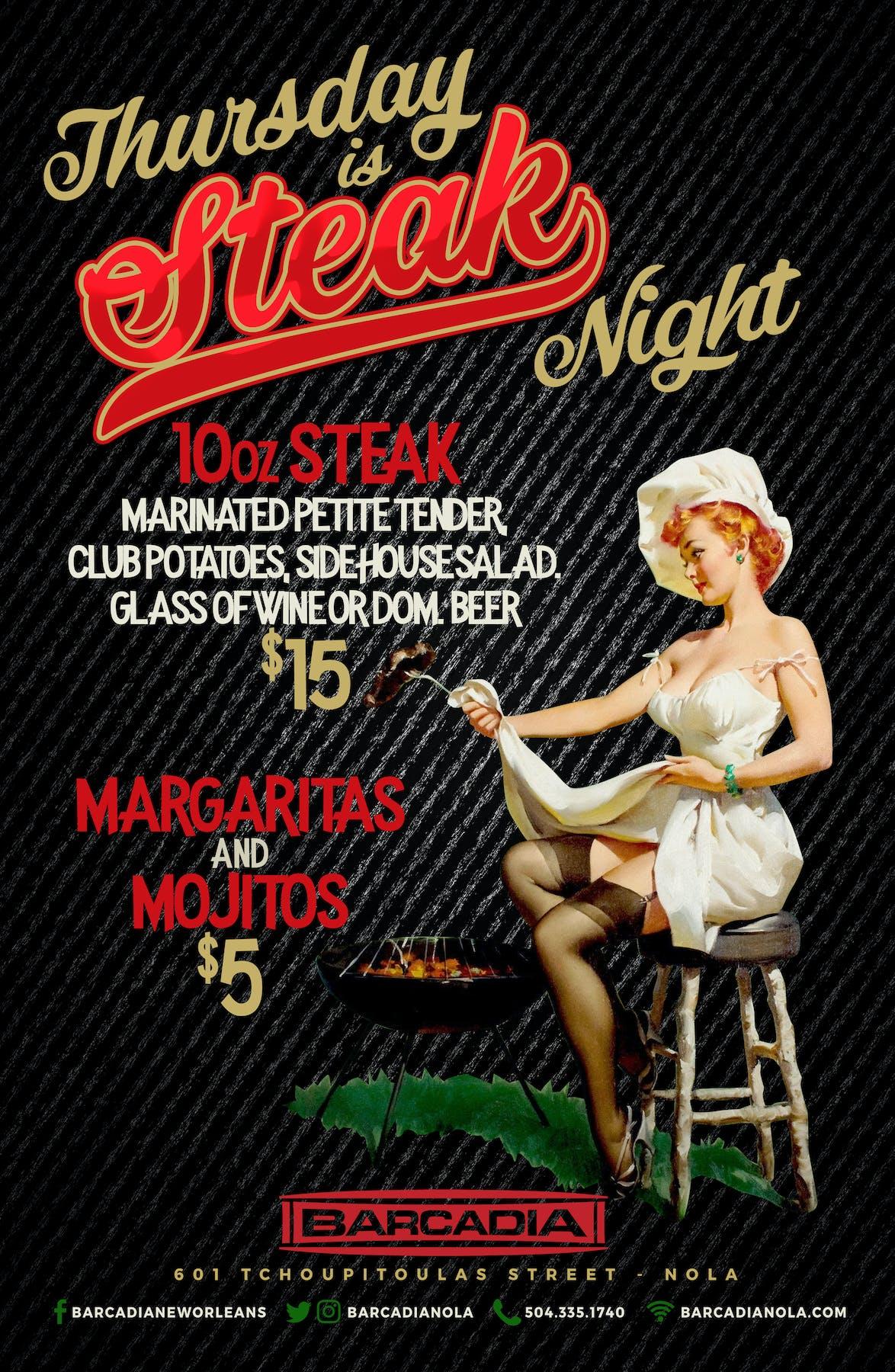 Steak Night Thursday Barcadia