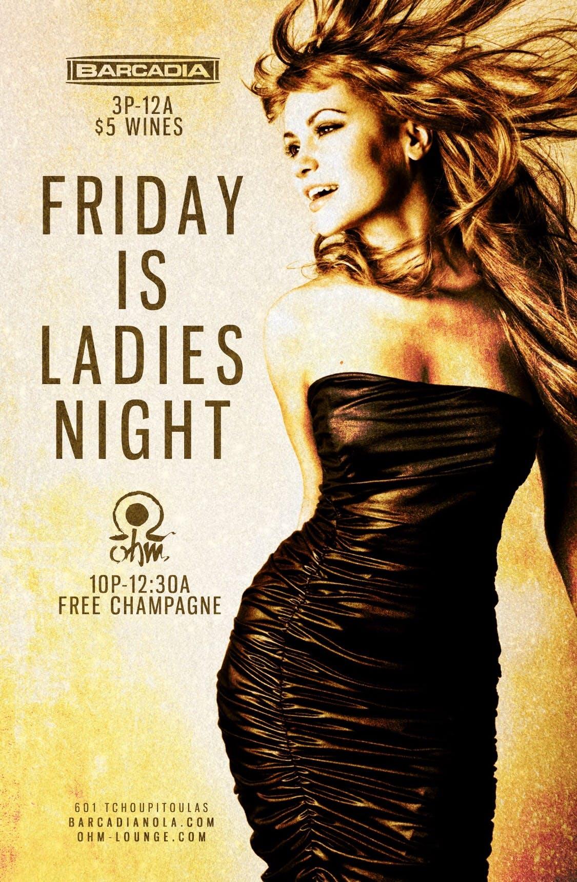 Ladies Night Friday Barcadia