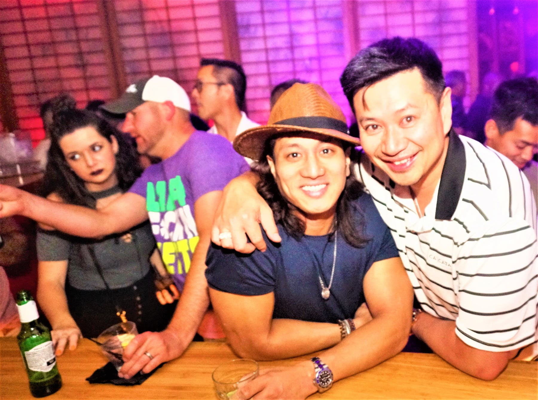 Couple Smiling at the Camera Ohm Lounge
