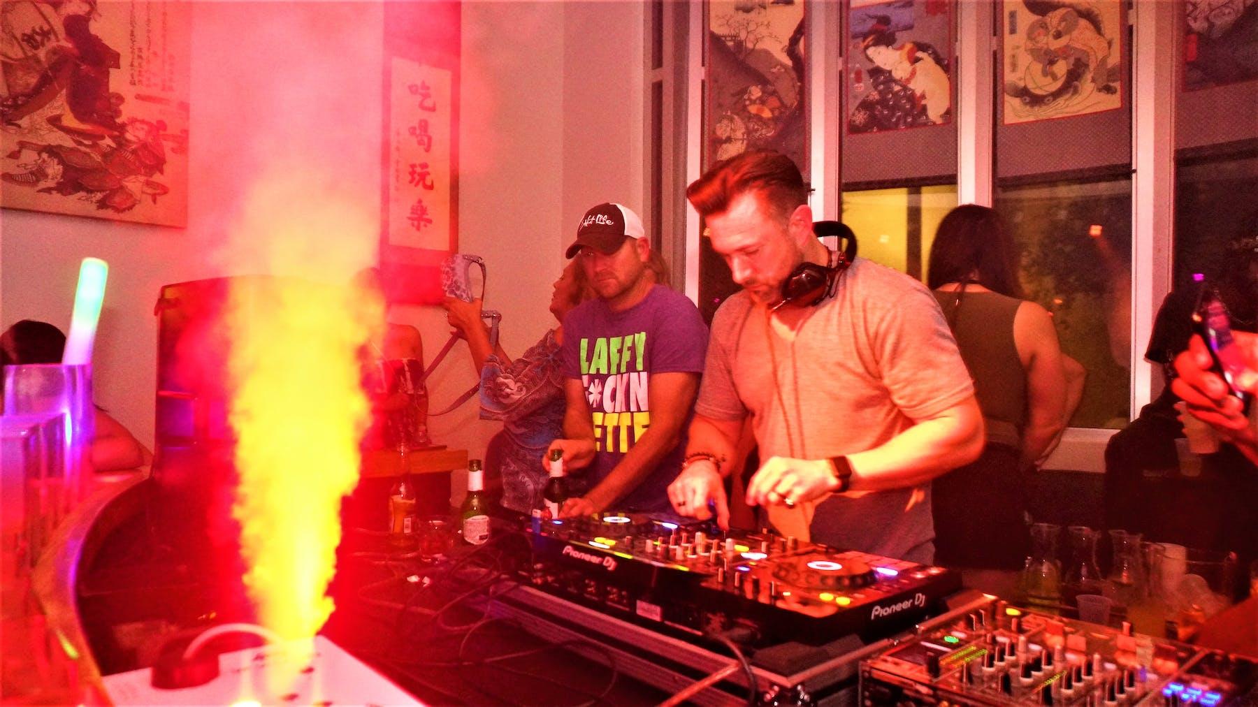 A DJ Playing Music Ohm Lounge