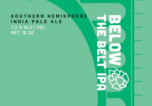 Below the Belt IPA drink logo