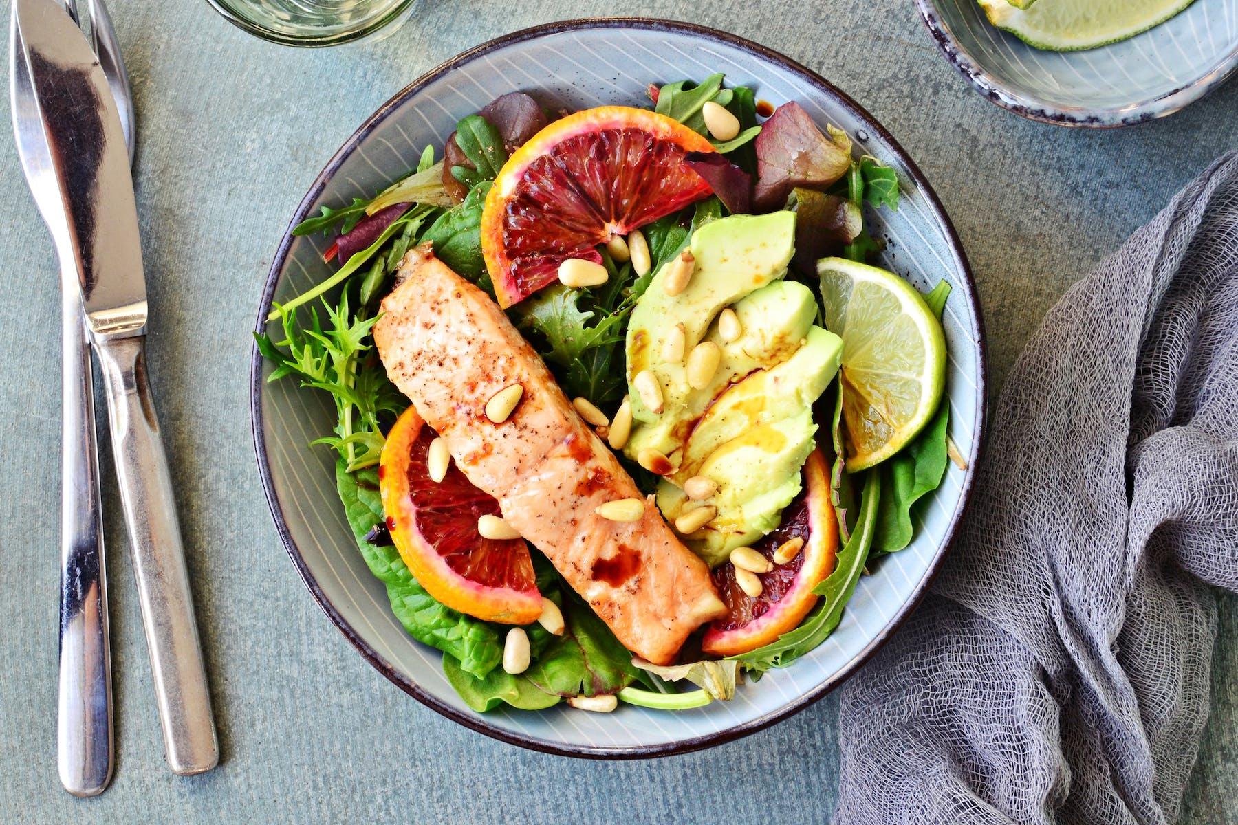 a salad on a table