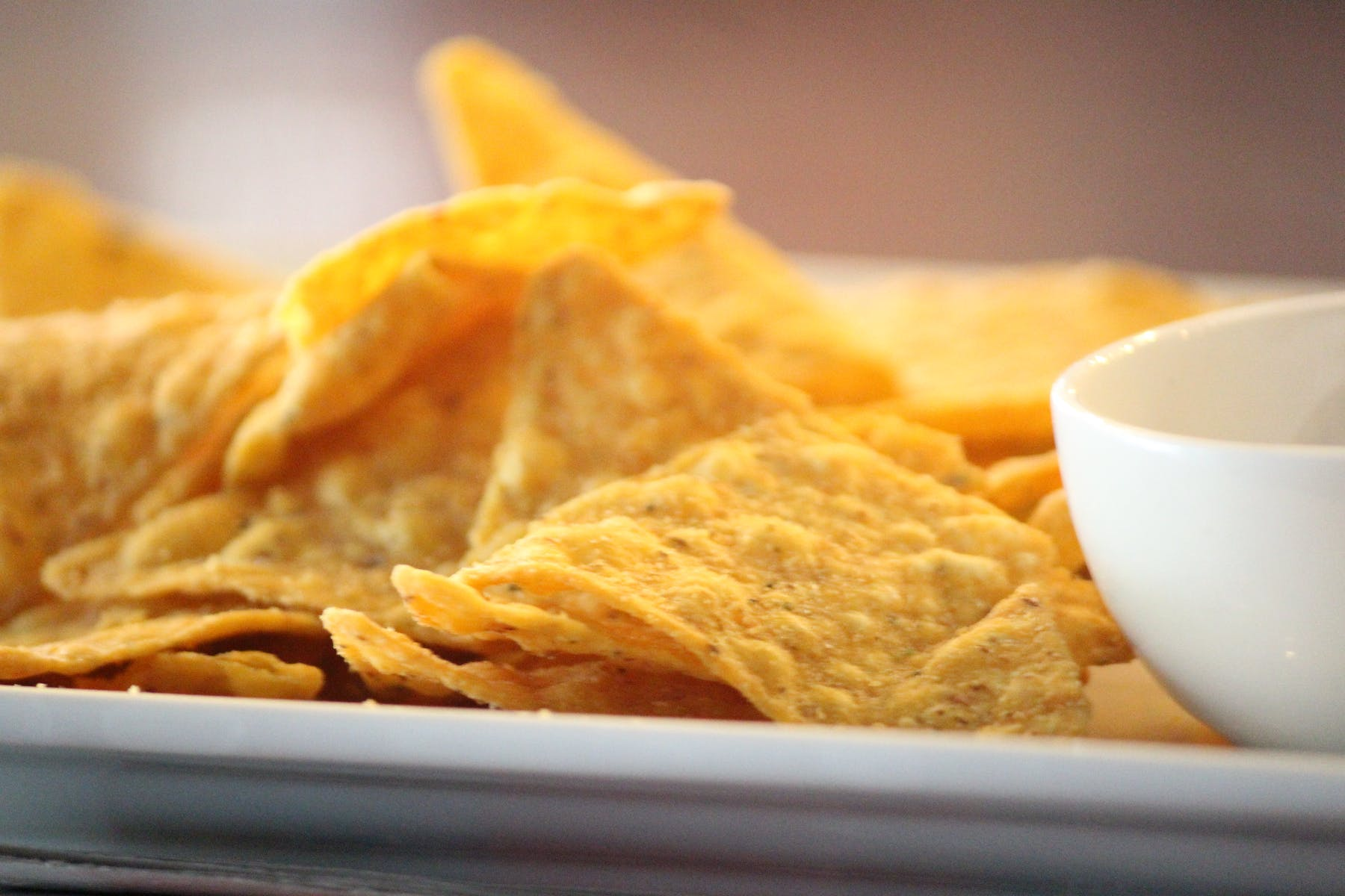 a close up of nacho chips