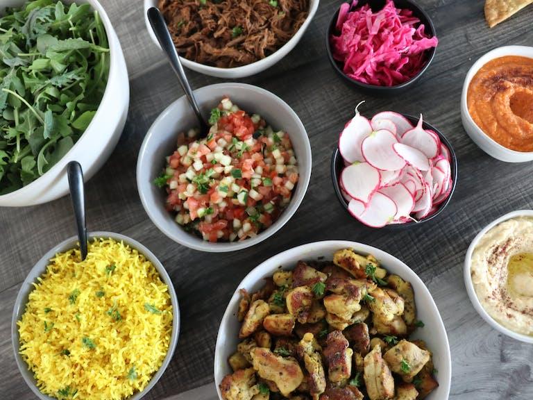 Mediterranean Feast Catering Delivery Miami