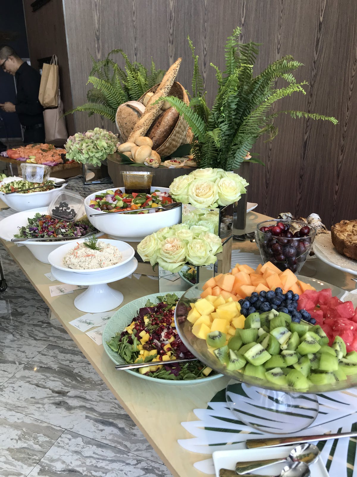 a bunch of food sitting on a table