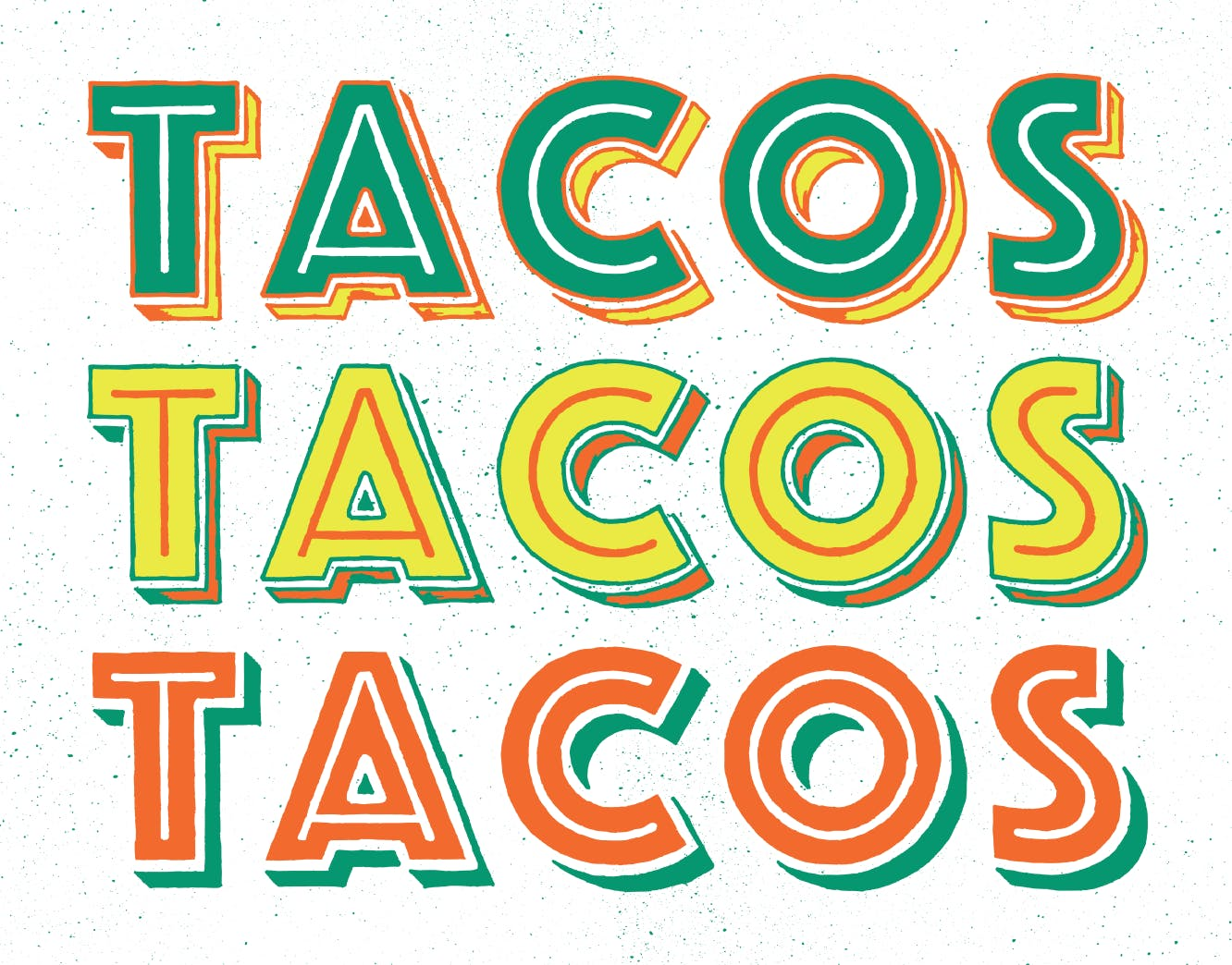 the word tacos