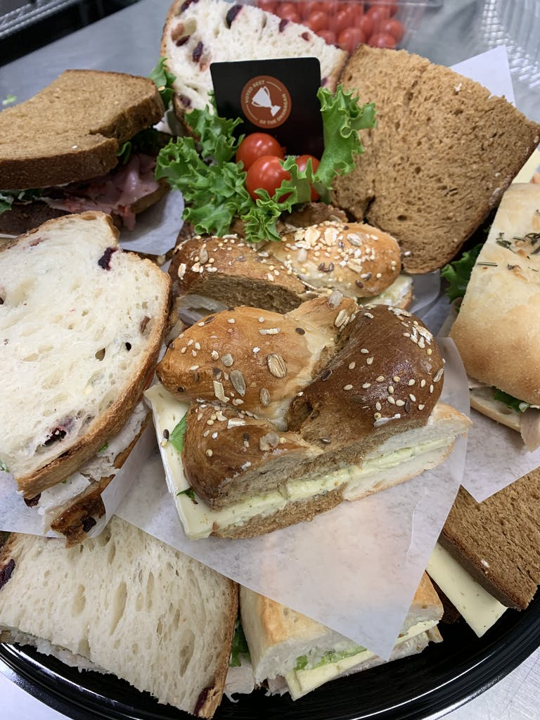 a sandwich cut in half on a plate