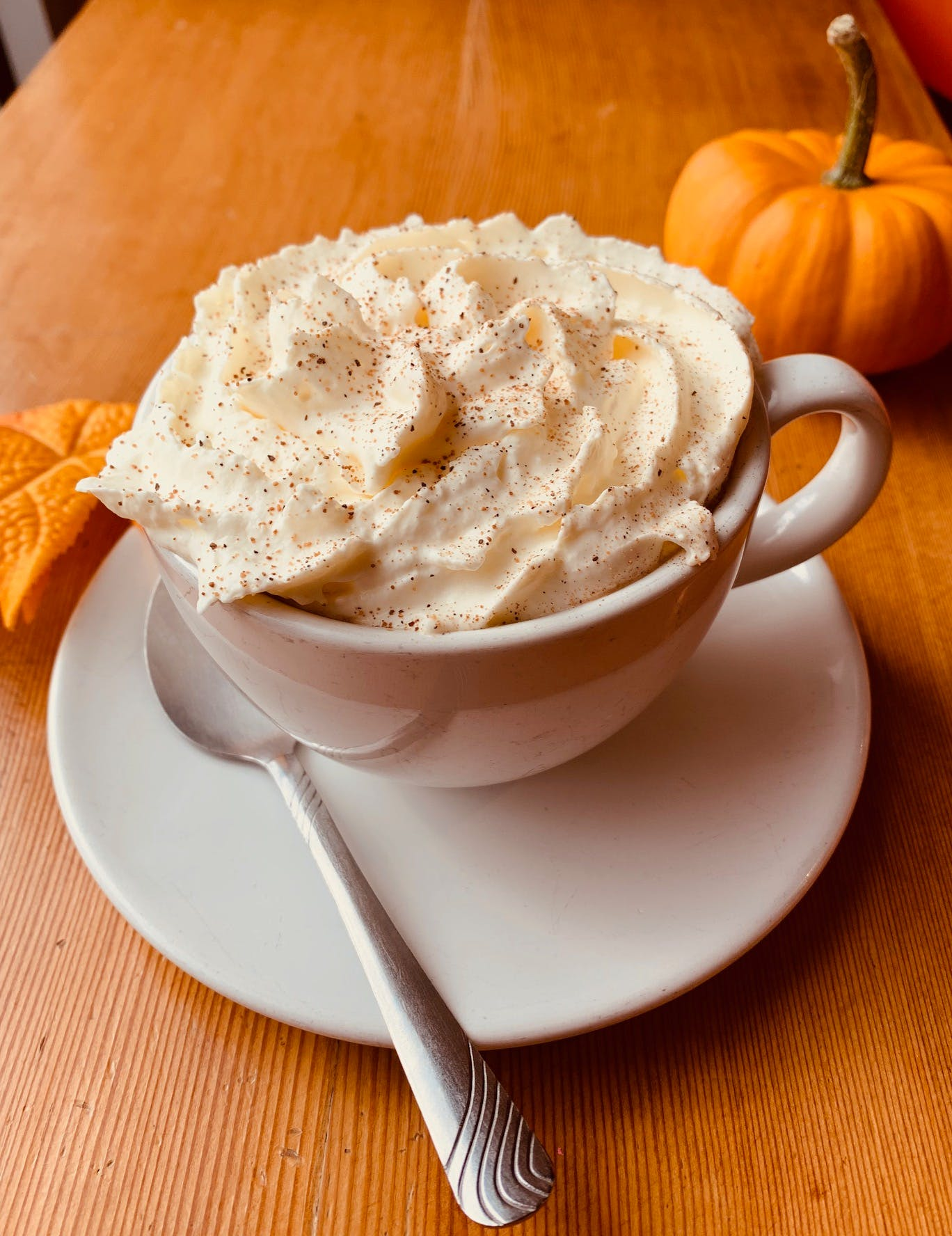 Pumpkin Spice latte to warm you on a chilly day