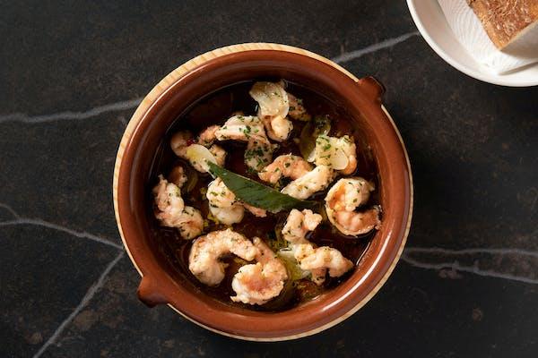 a bowl of shrimp