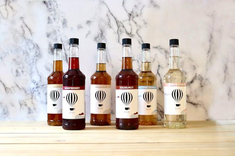 Saxbys syrup bottles