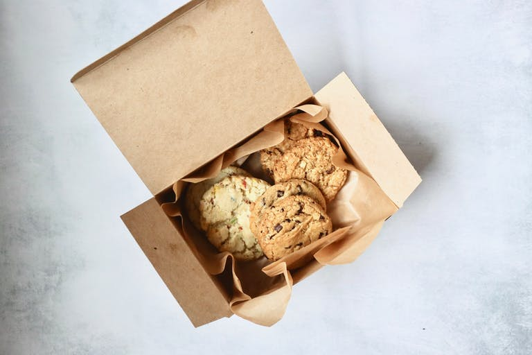 the saxbys plant-powered cookie box