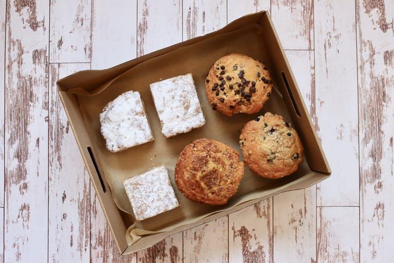 the Saxbys Breakfast Sweet box