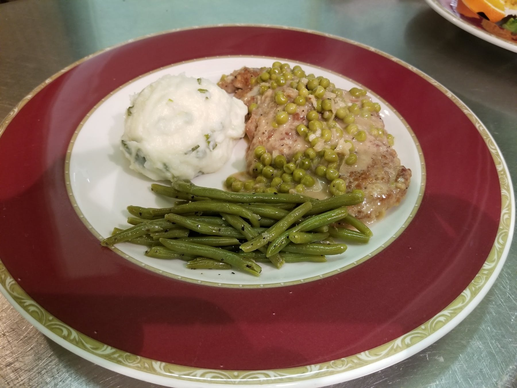 Veal with Cream & Peas