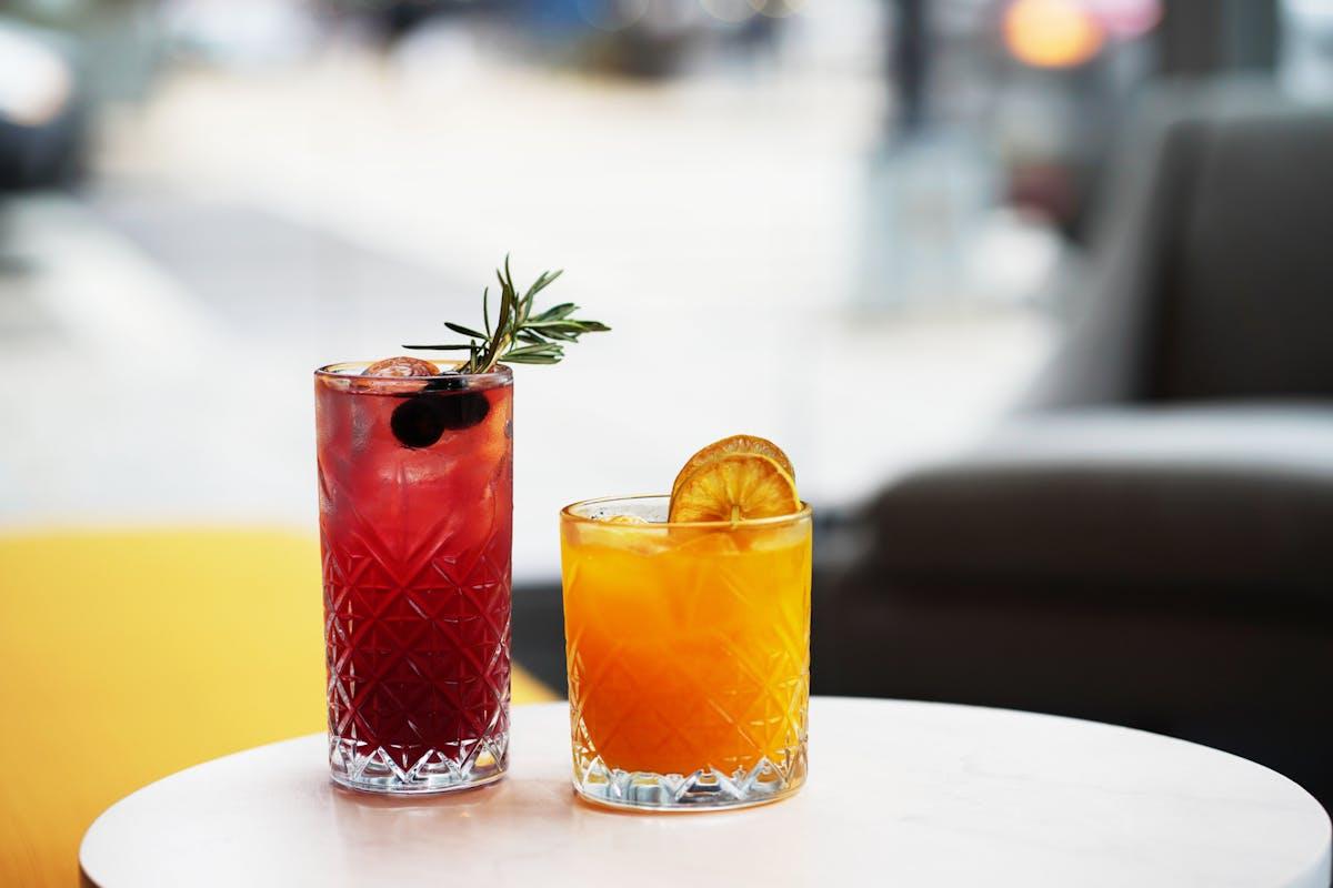 drinks served at bar - CIRCA at Navy Yard