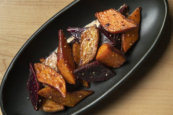 sweet potatoes with brown butter crema