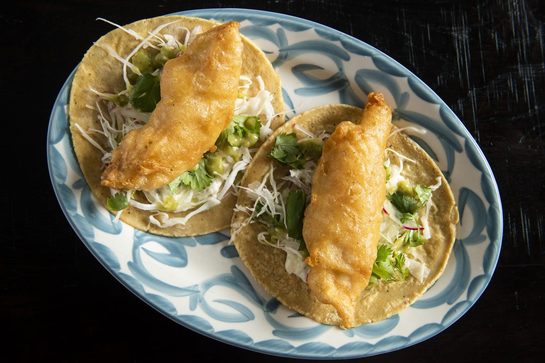 fish tacos at empellon taqueria