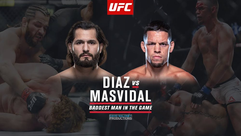 Jorge Masvidal, Nate Diaz posing for the camera