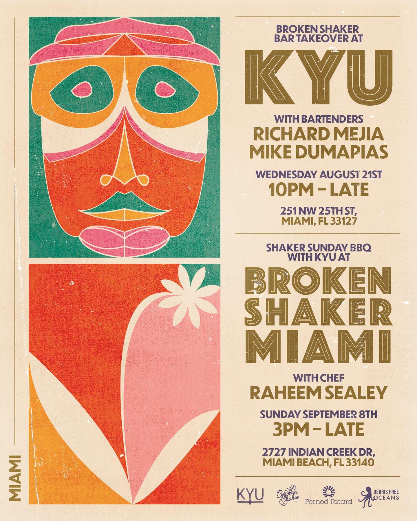 Broken Shaker and KYU flyer
