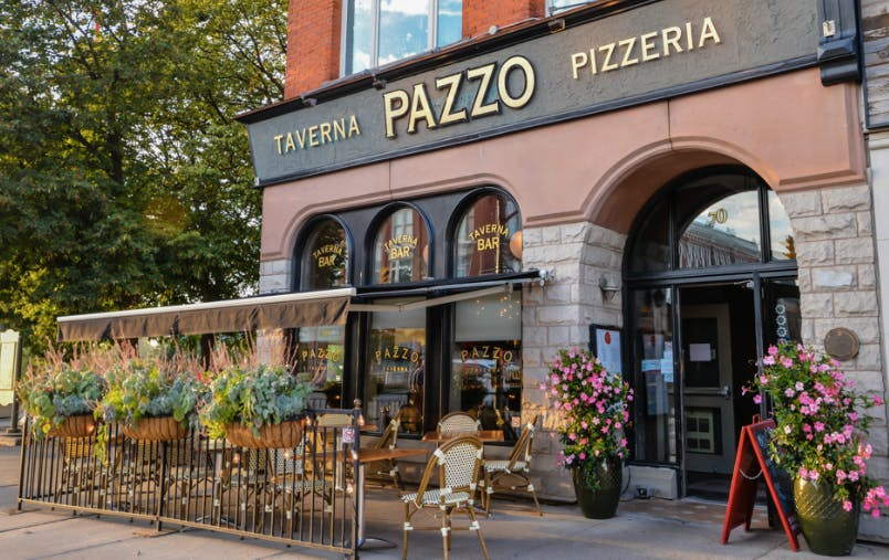 Pazzo Pizzaria restaurant view from outside