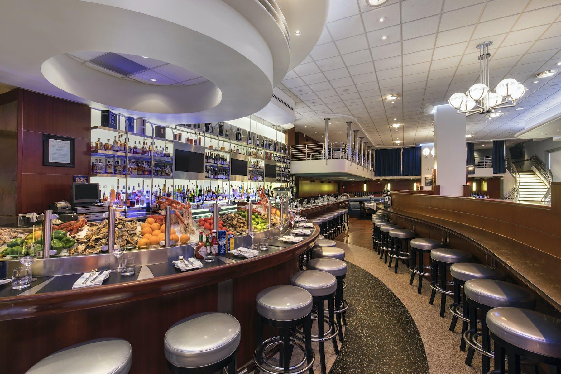 a restaurant's bar