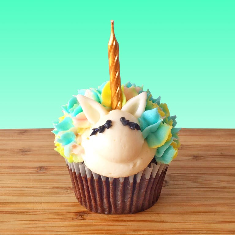 unicorn chocolate cupcake