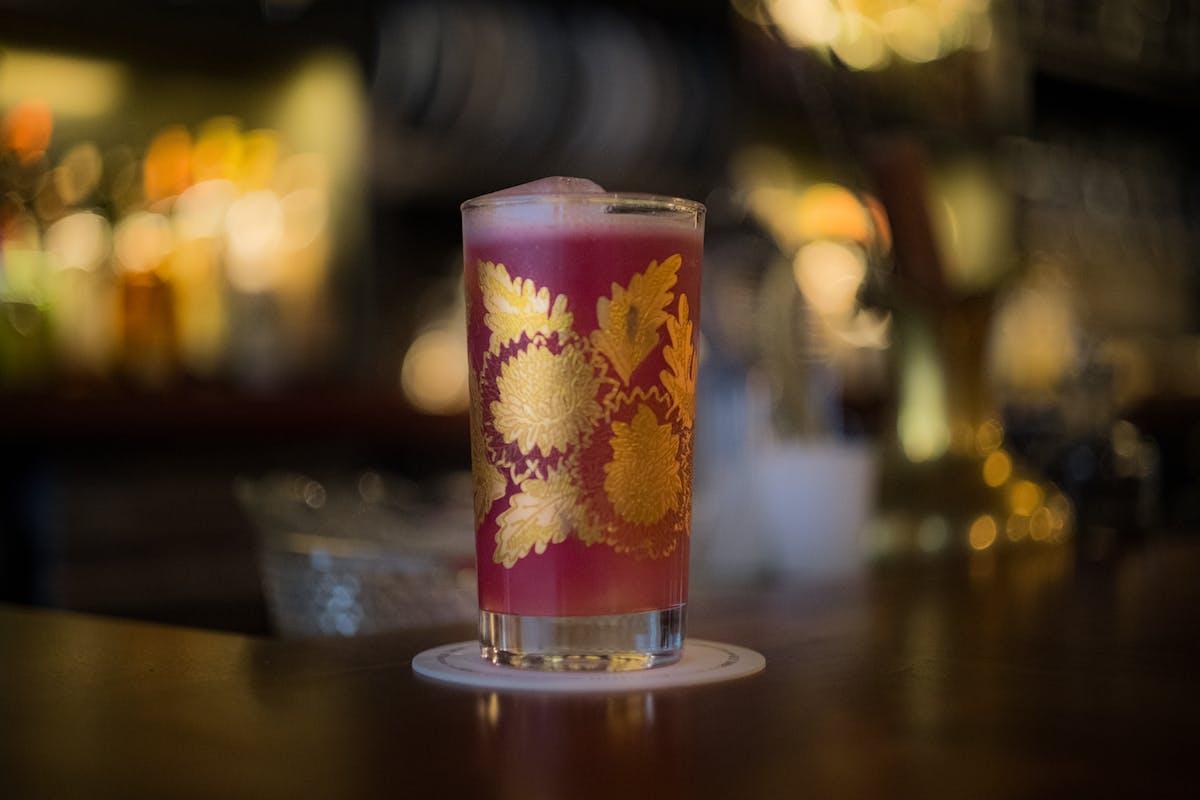 a closeup of a drink