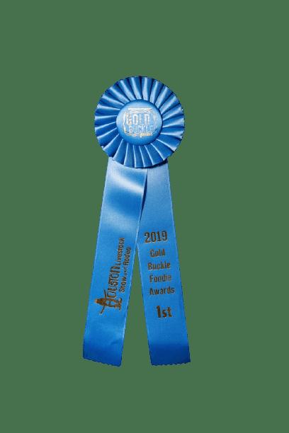 close up of an award