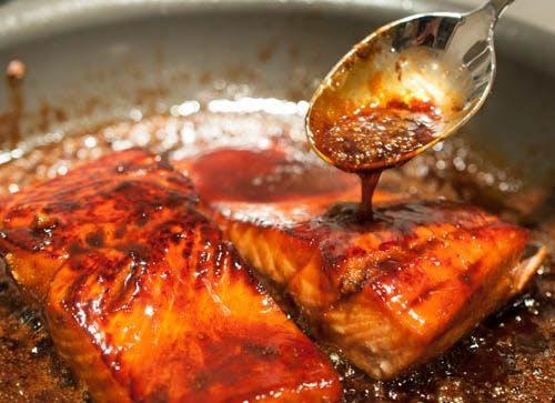 Bourban Glazed Salmon