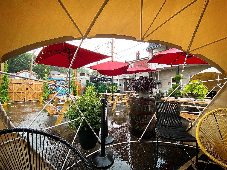 A rainy day in the Cabana