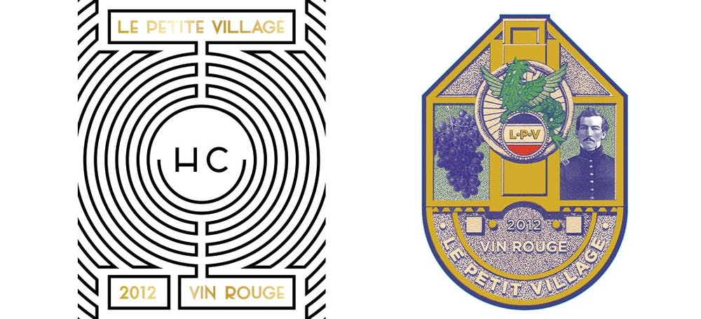 Chateau Mas Neuf and Le Petit Village logos