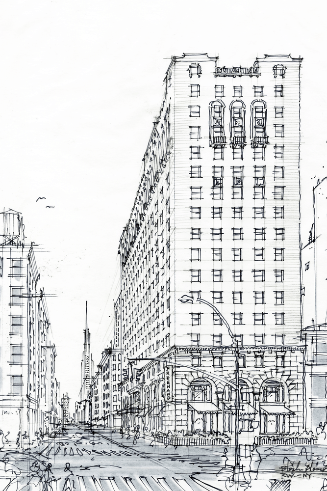 illustration of the freehand hotel