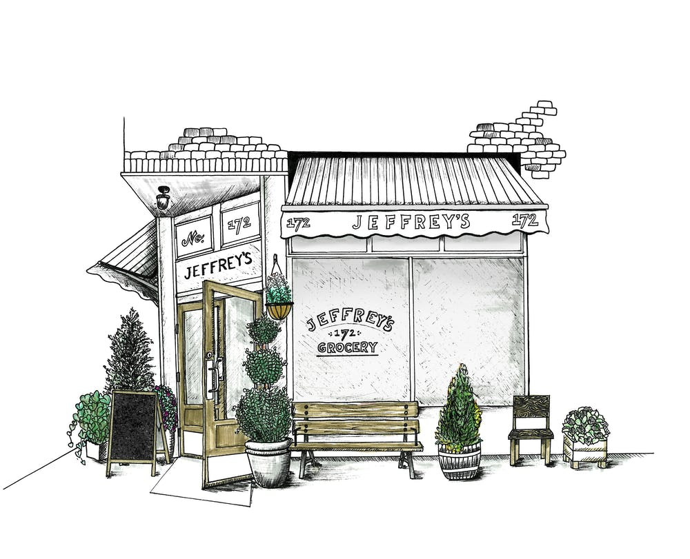 illustration of jeffreys grocery