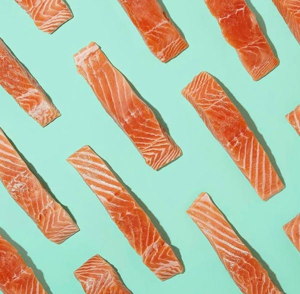 Background of fresh salmon