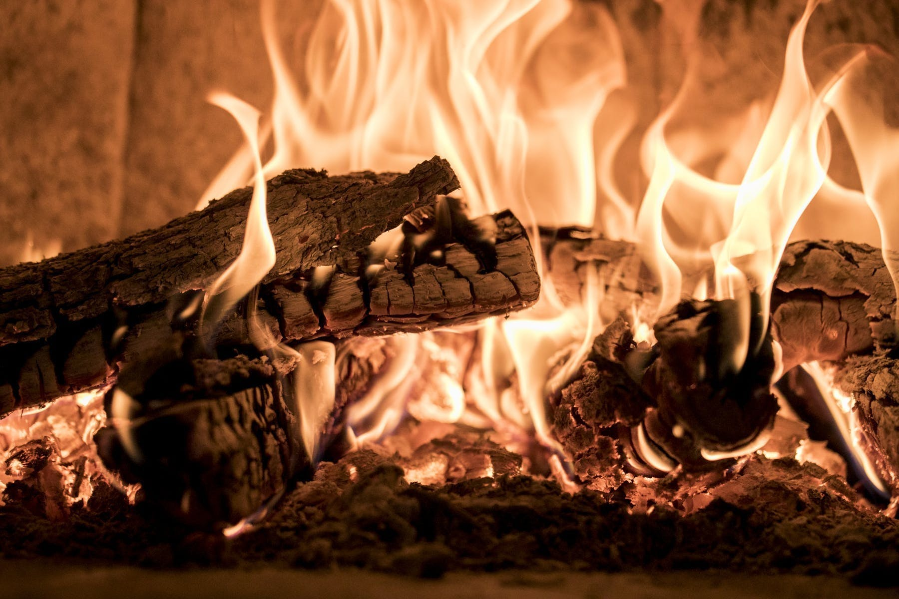 a close up of a fire